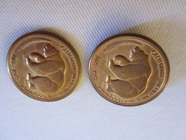 California Bicentennial Coins The Golden Land Mid Century Medals - Designer Unique Finds   - 2