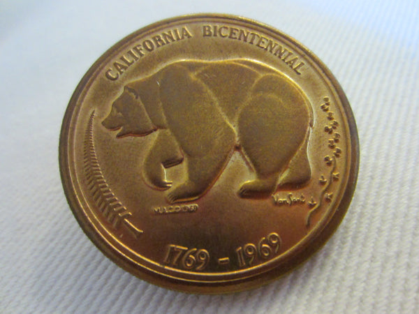 California Bicentennial Coins The Golden Land Mid Century Medals - Designer Unique Finds   - 4