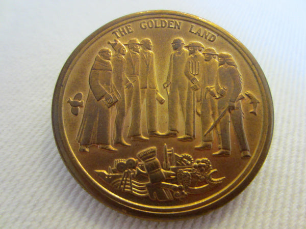 California Bicentennial Coins The Golden Land Mid Century Medals - Designer Unique Finds