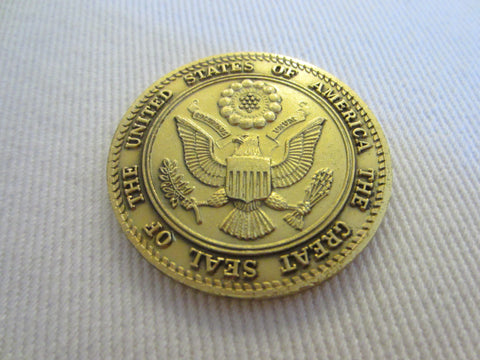 A Golden Medal Spirit of 76 The Great Seal Of The United States Of America