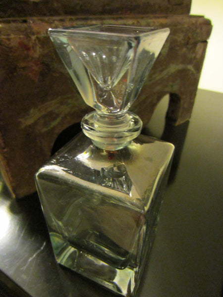 Mid Century Crystal Apothecary Glass Decanter - Designer Unique Finds