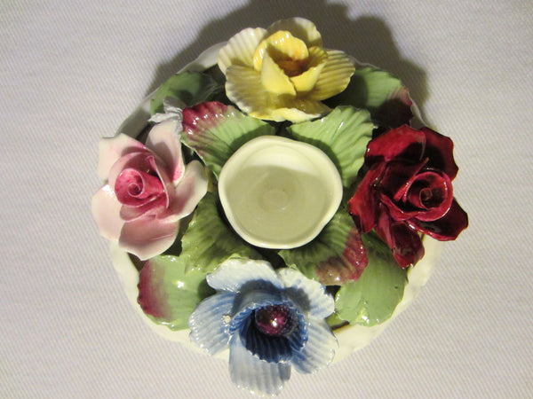 Aynsley England Fine Bone China Candle Holder With Roses - Designer Unique Finds   - 4