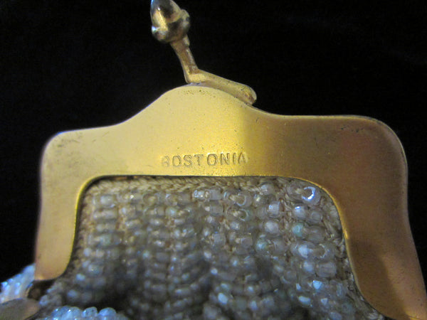 Bostonia Coin Silhuette Purse Pendant Gold Plated Marked Ger Silver - Designer Unique Finds   - 6