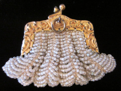 Bostonia Coin Silhuette Purse Pendant Gold Plated Marked Ger Silver - Designer Unique Finds   - 1