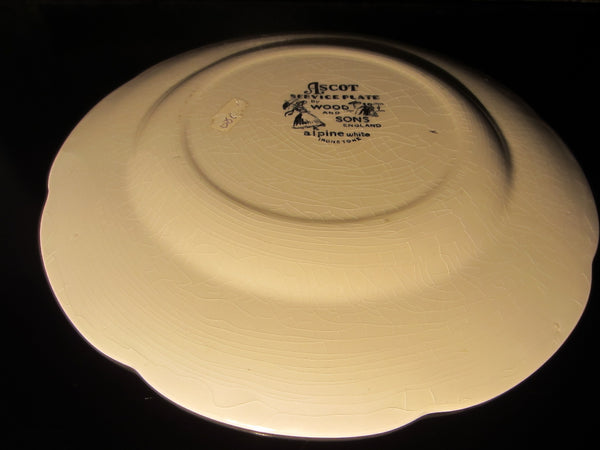 Wood And Sons England Ascot Service Plate Alpine White Ironstone - Designer Unique Finds   - 5