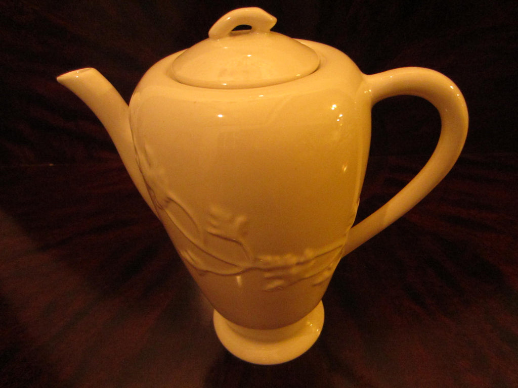 California Ironstone Teapot By Brock Floral Relief