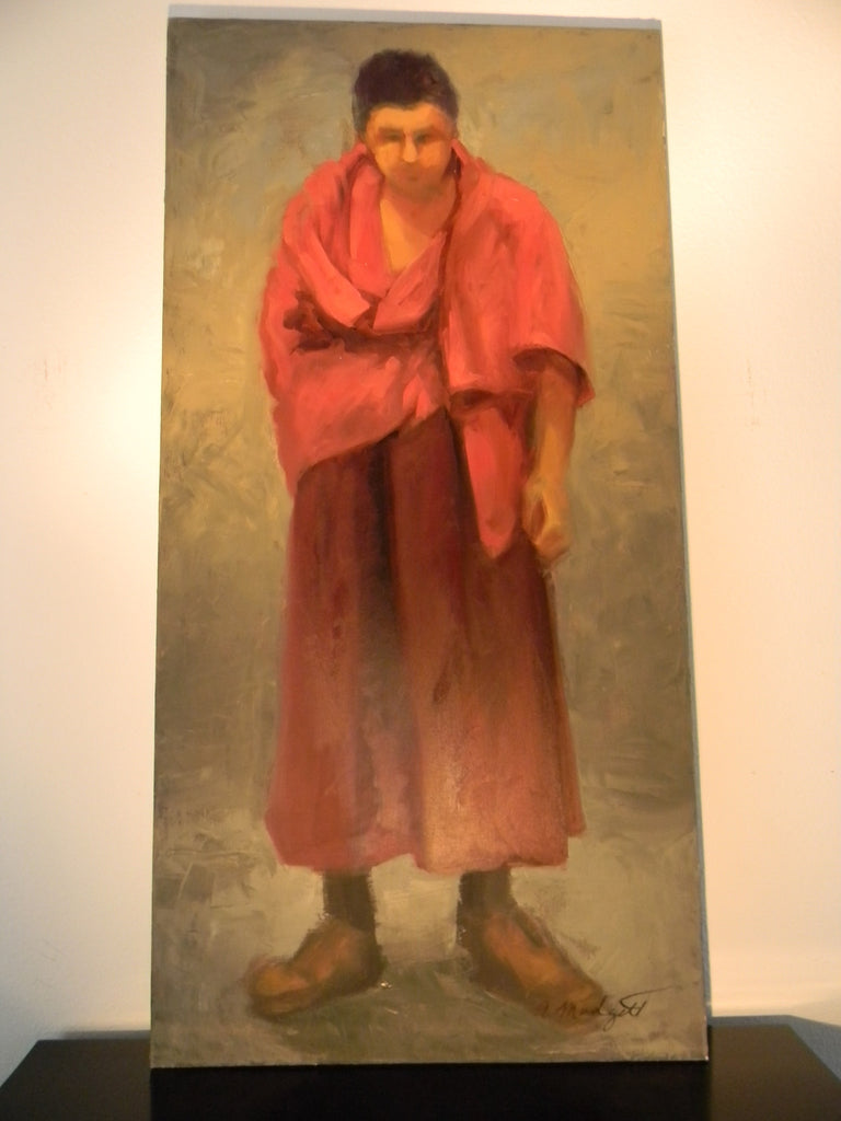 California Artist Dream Of The Red Monsignor Portrait Oil on Canvas - Designer Unique Finds   - 1
