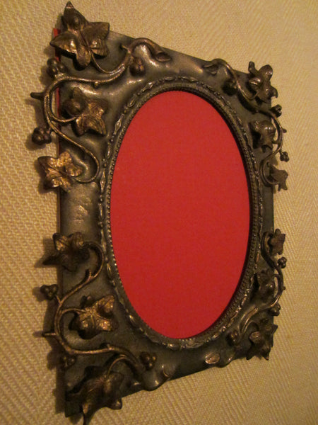 Art Deco Bronze Photo Frame Decorated Grape Vines - Designer Unique Finds   - 5