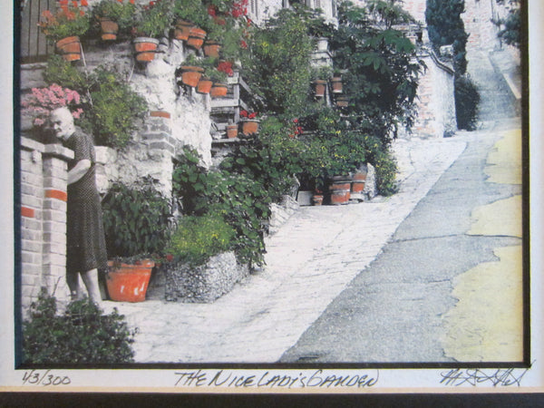The Nice Lady s Garden View Signed Art Limited Edition - Designer Unique Finds