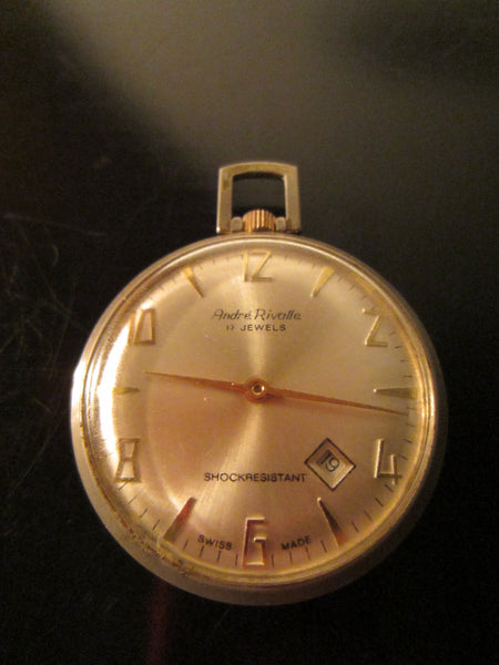 Andre Rivalle Mid Century Hand Winding Swiss Pocket Watch - Designer Unique Finds   - 2