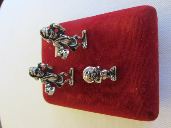 Jacob M Oldak New York Pewter Cuff Links Tie Tack Set Dr House Visit Theme - Designer Unique Finds