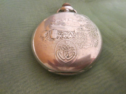 Zenith Grand Prix Paris Antique Silver Pocket Watch Chronometer