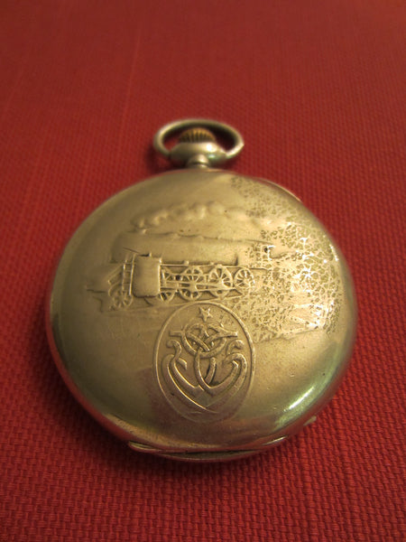 Zenith Grand Prix Paris 1900 Chronometre Railroad Hunter Pocket Watch - Designer Unique Finds   - 4
