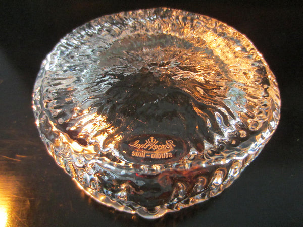 Rosenthal Studio Linie Signed Crystal Ashtrays - Designer Unique Finds