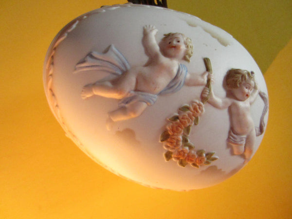 Worcester Porcelain Majolica Egg Box Angels Decorated Angles - Designer Unique Finds   - 3