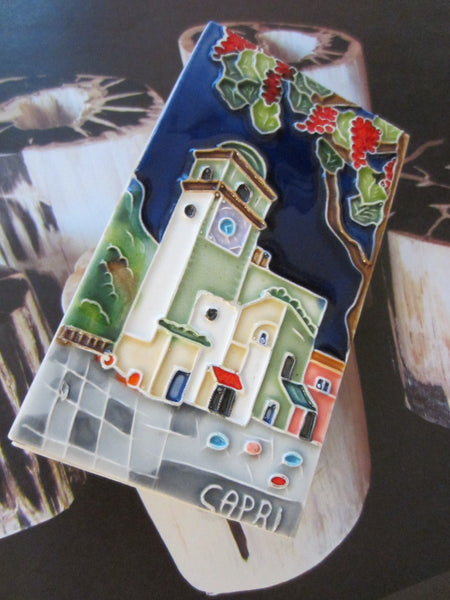 Ceramic Tile Capri Italy Match Box