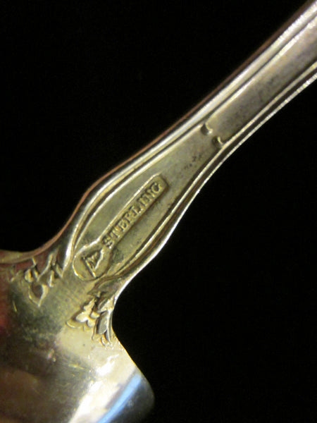 Bouillon Silver Spoons Meadow Rose Pattern by Mechanic Sterling Co - Designer Unique Finds