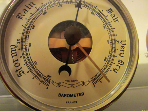 Lucite Millibars France Desktop Barometer Thermometer Hygrometer - Designer Unique Finds   - 4
