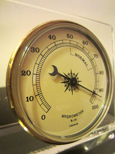 Lucite Millibars France Desktop Barometer Thermometer Hygrometer - Designer Unique Finds   - 5