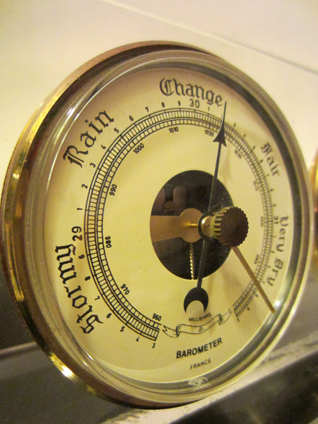Lucite Millibars France Desktop Barometer Thermometer Hygrometer - Designer Unique Finds   - 7