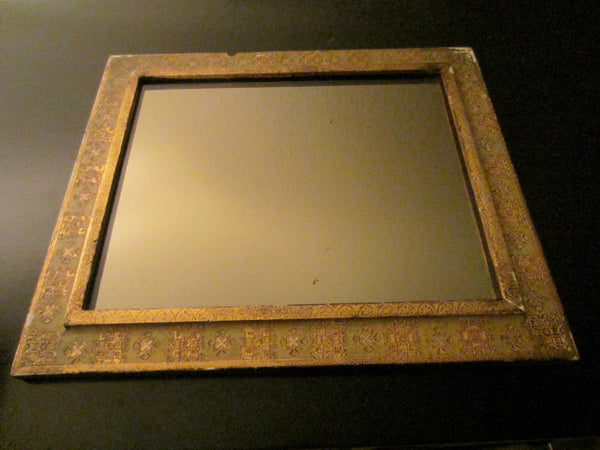 Florentine Gilt Smokey Mirror Ornate Wood Frame - Designer Unique Finds   - 2