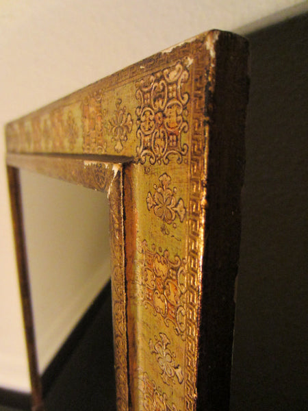 Florentine Gilt Smokey Mirror Ornate Wood Frame - Designer Unique Finds   - 1