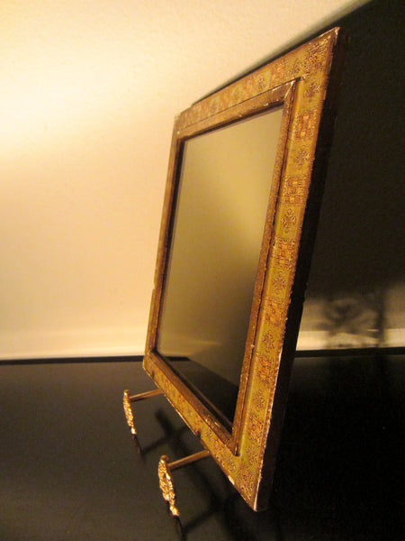 Florentine Gilt Smokey Mirror Ornate Wood Frame - Designer Unique Finds   - 5