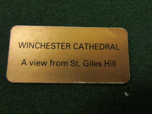 Winchester Cathedral English Glass Paperweight View From St Giles Hill - Designer Unique Finds