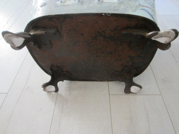 French Tole Coal Container Bronze Hand Footed Purdonium - Designer Unique Finds   - 6