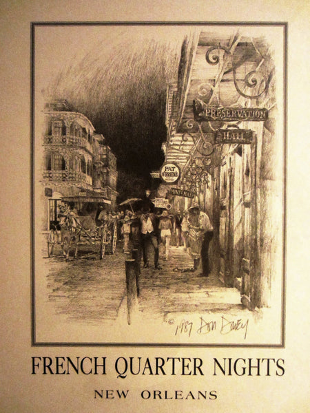 Don Davey French Quarter Nights New Orleans Signed Lithograph - Designer Unique Finds   - 3
