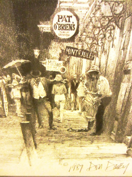 Don Davey French Quarter Nights New Orleans Signed Lithograph - Designer Unique Finds   - 1