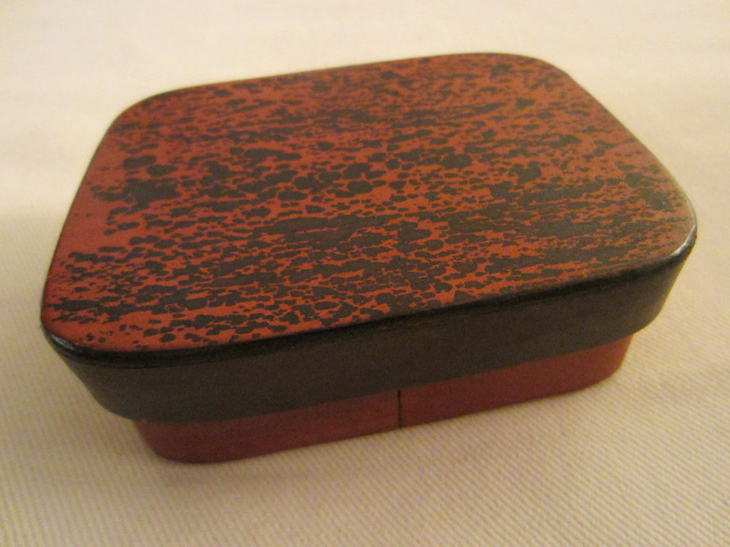 Art Deco Red Leather Signed Jewelry Box Textile Lined - Designer Unique Finds   - 2