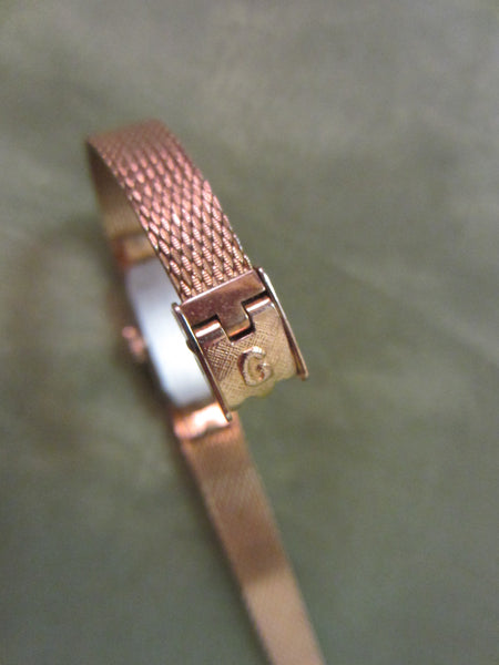 Gruen Percision Bracelet Watch Gold Plated Jeweled - Designer Unique Finds   - 7