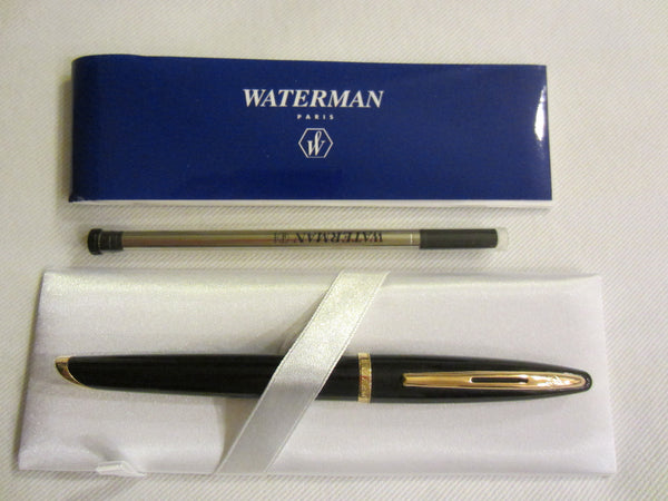 Waterman Paris Pen Emboss Gold Blue Leather Box - Designer Unique Finds   - 1