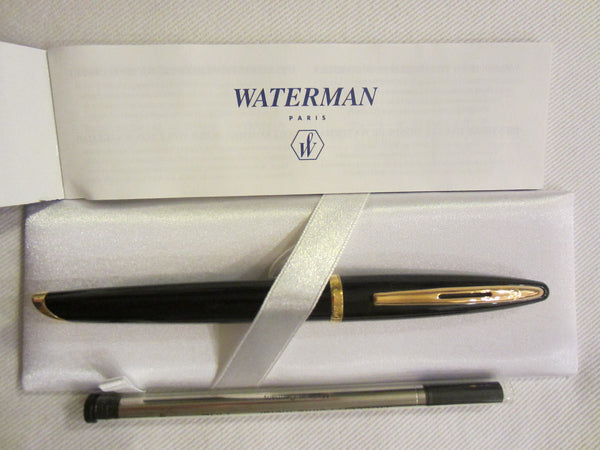 Waterman Paris Pen Emboss Gold Blue Leather Box - Designer Unique Finds   - 2