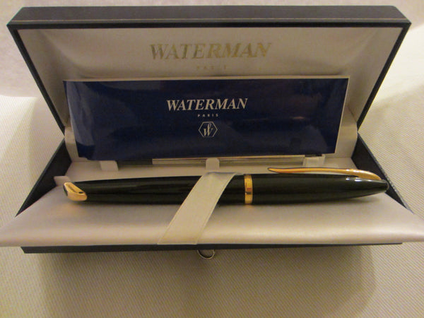 Waterman Paris Pen Emboss Gold Blue Leather Box - Designer Unique Finds   - 3