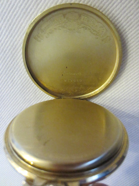 Hamilton Pocket Watch Wadsworth Case Gold Filled Scripted - Designer Unique Finds   - 9