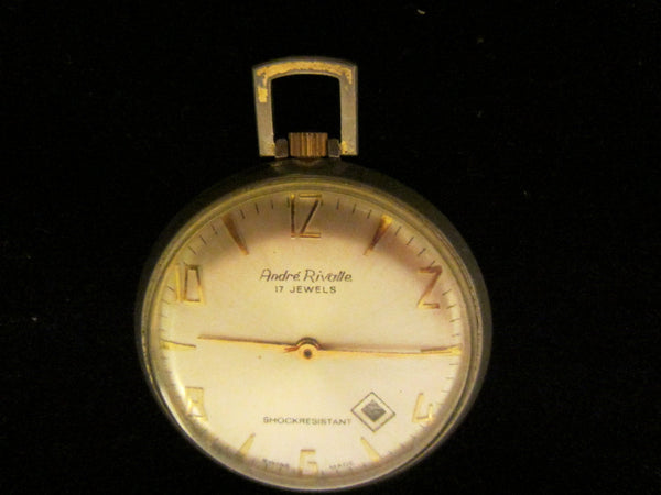 Andre Rivalle Mid Century Hand Winding Swiss Pocket Watch - Designer Unique Finds   - 7