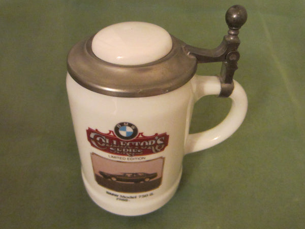 BMW Collectors Series Ceramic Beer Stein Pewter Lid Limited Edition - Designer Unique Finds