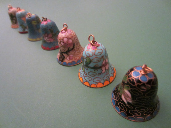 Chinese Cloisonne Seven Colored Miniature Bells - Designer Unique Finds   - 2