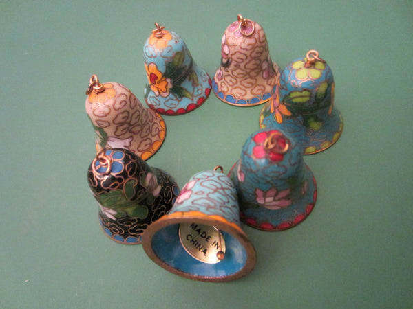 Chinese Cloisonne Seven Colored Miniature Bells - Designer Unique Finds   - 1