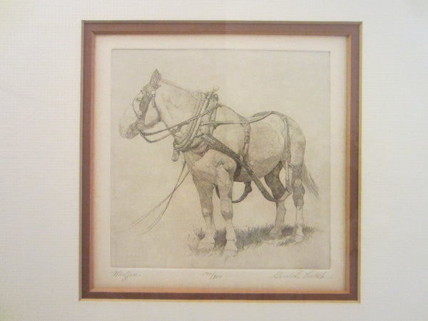 Gulaloh Lubeck Signed Titled Muffin Equestrian Horse Lithograph LE - Designer Unique Finds   - 4