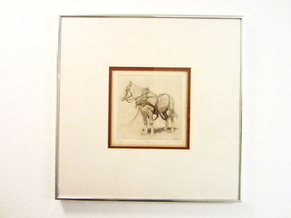 Gulaloh Lubeck Signed Titled Muffin Equestrian Horse Lithograph LE - Designer Unique Finds   - 1