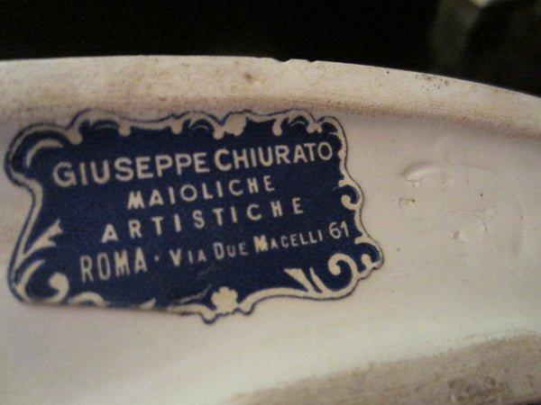 A Guiseppe Chiurato Majolica Italian Musician Angels Planter Suite - Designer Unique Finds   - 6