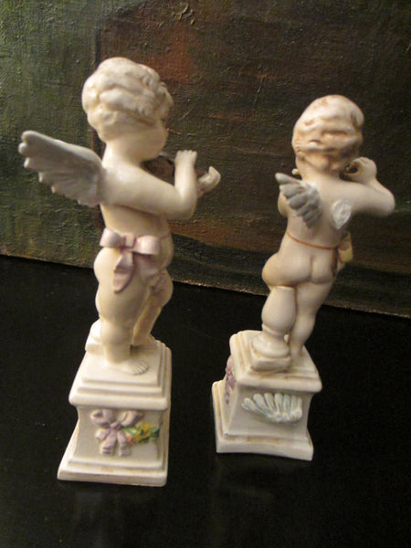 A Guiseppe Chiurato Majolica Italian Musician Angels Planter Suite - Designer Unique Finds   - 2