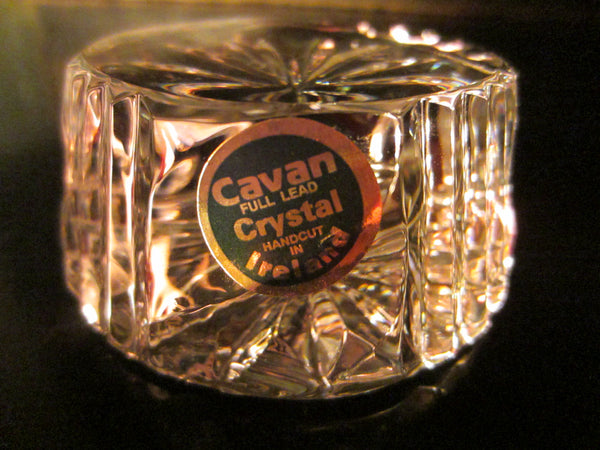 Cavan Hand Cut Crystal Paperweight Made in Ireland - Designer Unique Finds