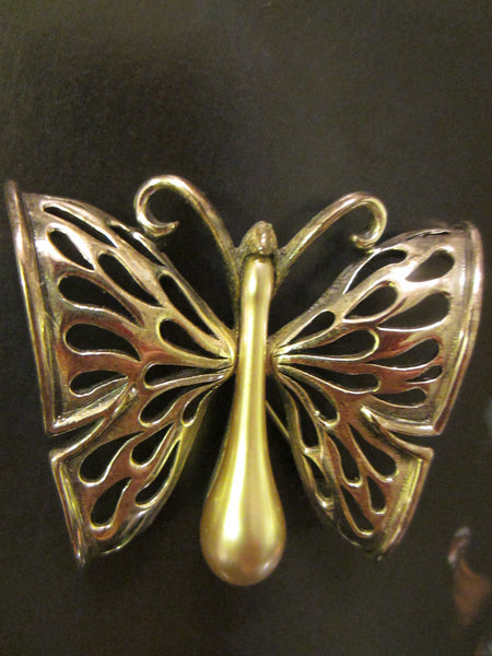 Tortolani Pewter Italian Butterfly Brooch - Designer Unique Finds   - 3