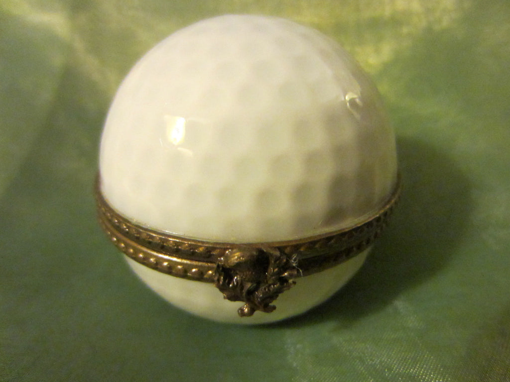 Limoges France Golf Ball Trinket Box - Designer Unique Finds