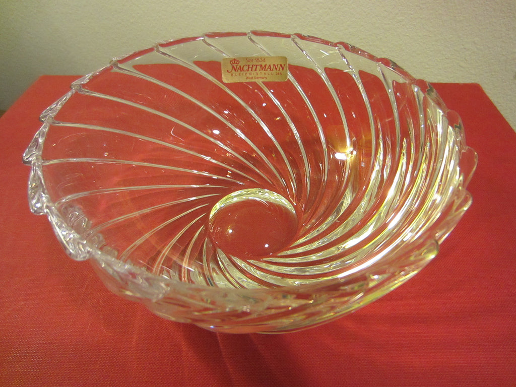 Nachtmann Bleikristall West Germany Crystal Bowl - Designer Unique Finds
