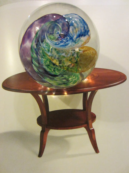 Selkirk Studio Glass Paperweight Hand Made in Scotland Signed - Designer Unique Finds
